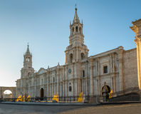 Καθεδρικός ναός Plaza de Armas - Arequipa, Περού Στοκ εικόνες με δικαίωμα ελεύθερης χρήσης