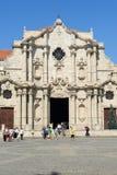 Καθεδρικός ναός SAN Cristobal Plaza de Λα Catedral στην Αβάνα Στοκ εικόνα με δικαίωμα ελεύθερης χρήσης