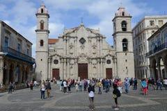 Καθεδρικός ναός SAN Cristobal Plaza de Λα Catedral στην Αβάνα Στοκ φωτογραφία με δικαίωμα ελεύθερης χρήσης