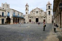 Καθεδρικός ναός SAN Cristobal Plaza de Λα Catedral στην Αβάνα Στοκ Εικόνες