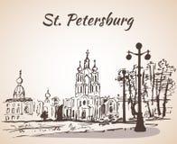 Καθεδρικός ναός Smolny στην Άγιος-Πετρούπολη, Ρωσία ελεύθερη απεικόνιση δικαιώματος
