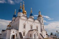 Καθεδρικός ναός Sophia-υπόθεσης του ST σε Tobolsk Κρεμλίνο. Σιβηρία. Russ στοκ φωτογραφία με δικαίωμα ελεύθερης χρήσης