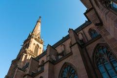 Καθεδρικός ναός ST Bernhard Religious Architecture Be εκκλησιών της Καρλσρούης Στοκ Εικόνες