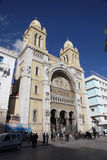 Καθεδρικός ναός St Vincent de Paul στην Τυνησία Στοκ φωτογραφία με δικαίωμα ελεύθερης χρήσης