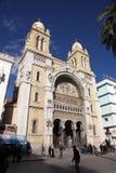 Καθεδρικός ναός St Vincent de Paul στην Τυνησία Στοκ εικόνες με δικαίωμα ελεύθερης χρήσης