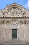 Καθεδρικός ναός Troia στην πόλη Troia, Apulia, Ιταλία Στοκ εικόνες με δικαίωμα ελεύθερης χρήσης