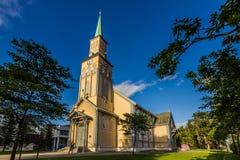 Καθεδρικός ναός Tromso, Νορβηγία Στοκ Εικόνα