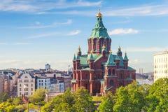 Καθεδρικός ναός Uspenski, ανατολικός ορθόδοξος καθεδρικός ναός, Ελσίνκι Στοκ φωτογραφίες με δικαίωμα ελεύθερης χρήσης