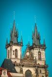 καθεδρικών ναών τετραγωνική πόλη δημοκρατιών της Πράγας ελέγχου παλαιά tyn Πράγα, Δημοκρατία Czeh Στοκ φωτογραφία με δικαίωμα ελεύθερης χρήσης