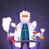 Καθηγητής της αφίσας χημείας ελεύθερη απεικόνιση δικαιώματος