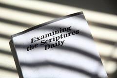 Καθημερινά πνευματικά τρόφιμα Βίβλων στοκ εικόνες