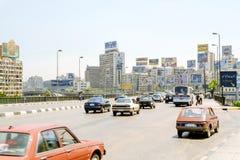 Καθημερινή κυκλοφορία στο Κάιρο Αίγυπτος στοκ φωτογραφία