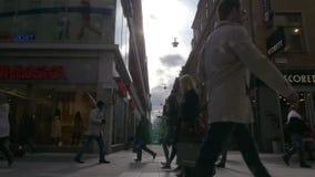 Καθημερινή μεγάλη ζωή πόλεων απόθεμα βίντεο