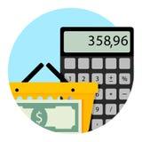 Καθημερινή υπηρεσία υπεραγορών, λογιστικό σχέδιο αγορών Απεικόνιση αποθεμάτων