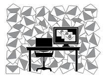 Καθημερινό ποσό των ηλεκτρονικών ταχυδρομείων ελεύθερη απεικόνιση δικαιώματος