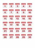 Καθημερινό σπειροειδές ημερολογιακό εικονίδιο Σεπτέμβριος εγγράφου διανυσματική απεικόνιση