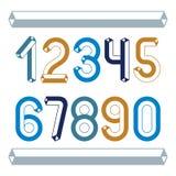 Καθιερώνοντα τη μόδα εκλεκτής ποιότητας διανυσματικά ψηφία, συλλογή αριθμών Αναδρομικοί αριθμοί διανυσματική απεικόνιση