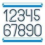 Καθιερώνοντα τη μόδα εκλεκτής ποιότητας διανυσματικά ψηφία, συλλογή αριθμών Αναδρομικοί αριθμοί ελεύθερη απεικόνιση δικαιώματος