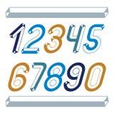 Καθιερώνοντα τη μόδα εκλεκτής ποιότητας διανυσματικά ψηφία, συλλογή αριθμών Αναδρομικό σχόλιο σε εφημερίδα με πλάγιους χαρακτήρες απεικόνιση αποθεμάτων