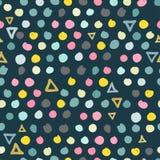 Καθιερώνον τη μόδα άνευ ραφής σχέδιο κακογραφιών στα χρώματα κρητιδογραφιών διανυσματική απεικόνιση