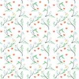 Καθιερώνον τη μόδα άνευ ραφής Floral σχέδιο στο διάνυσμα διανυσματική απεικόνιση