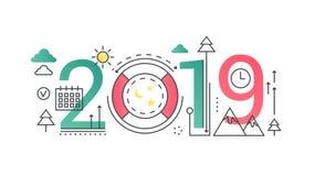 Καθιερώνον τη μόδα έμβλημα έννοιας σύνθεσης λέξης Σαββατοκύριακου 2019 Ψυχαγωγία, διακοπές και ελεύθερος χρόνος κτυπήματος περιλή Απεικόνιση αποθεμάτων