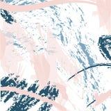 Καθιερώνον τη μόδα διανυσματικό σχέδιο με τα κτυπήματα βουρτσών Συρμένη χέρι αφηρημένη κάρτα διανυσματική απεικόνιση