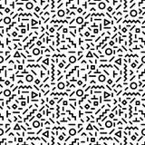 Καθιερώνον τη μόδα άνευ ραφής σχέδιο ύφους της Μέμφιδας που εμπνέεται μέχρι τη δεκαετία του '80, αναδρομικό σχέδιο μόδας της δεκα διανυσματική απεικόνιση