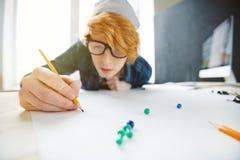 Καθιερώνον τη μόδα δημιουργικό σχέδιο σπουδαστών Στοκ Εικόνες