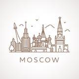 Καθιερώνουσα τη μόδα απεικόνιση γραμμή-τέχνης της Μόσχας Στοκ φωτογραφία με δικαίωμα ελεύθερης χρήσης