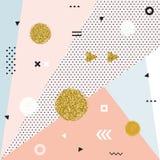 Καθιερώνουσες τη μόδα γεωμετρικές κάρτες της Μέμφιδας στοιχείων Στοκ Εικόνες