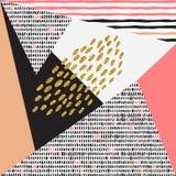 Καθιερώνουσες τη μόδα γεωμετρικές κάρτες της Μέμφιδας στοιχείων Στοκ Φωτογραφίες