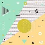 Καθιερώνουσες τη μόδα κάρτες της Μέμφιδας αφηρημένο πρότυπο άνευ ραφή&sig Στοκ Εικόνες