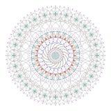 Καθιερώνων τη μόδα χρωματισμένος hipster κύκλος, φωτεινό φιλοσοφικό σύμβολο Στοκ Εικόνες
