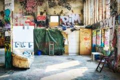 Καθισμένο οκλαδόν κτήριο στο Βερολίνο Στοκ Φωτογραφίες