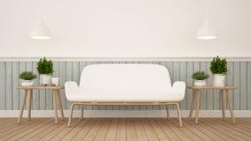 Καθιστικό ή καφετερία - τρισδιάστατη απόδοση Στοκ φωτογραφία με δικαίωμα ελεύθερης χρήσης