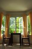 καθιστικό γωνιών καφέ Στοκ Φωτογραφίες