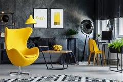Καθιστικό με την περιοχή εργασίας Στοκ Φωτογραφίες
