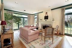 Καθιστικό στο σπίτι πολυτέλειας Στοκ Εικόνες