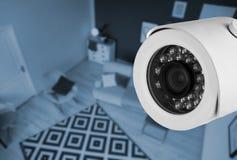Καθιστικό υπό επιτήρηση καμερών CCTV στοκ φωτογραφίες