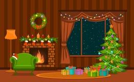 Καθιστικό Χριστουγέννων Στοκ εικόνα με δικαίωμα ελεύθερης χρήσης
