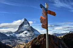 Καθοδηγήστε σε Matterhorn Ελβετία Στοκ Εικόνα