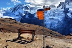 Καθοδηγήστε σε Matterhorn Ελβετία Στοκ φωτογραφία με δικαίωμα ελεύθερης χρήσης