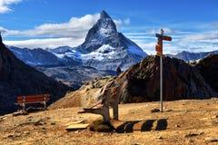 Καθοδηγήστε σε Matterhorn Ελβετία Στοκ Φωτογραφία