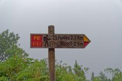 """Καθοδηγήστε στα """"25 Fontes και τη """"Risco """"πηγή, Μαδέρα στοκ εικόνες με δικαίωμα ελεύθερης χρήσης"""