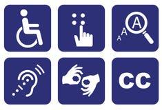 Καθολικά σύμβολα της δυνατότητας πρόσβασης διανυσματική απεικόνιση