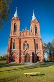 Καθολική εκκλησία του ST George σε Zasliai στοκ φωτογραφίες