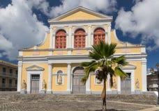 Καθολική εκκλησία του ST Peter και του ST Paul σε pointe-α-Pitre, πρωτεύουσα της Γουαδελούπης, καραϊβική Στοκ εικόνες με δικαίωμα ελεύθερης χρήσης