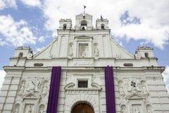 Καθολική εκκλησία Rabinal Baja Verapaz, Γουατεμάλα στοκ εικόνες