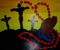 Καθολική ζωγραφική δημιουργημένο στο καμβάς σχέδιο υποβάθρου ελεύθερη απεικόνιση δικαιώματος